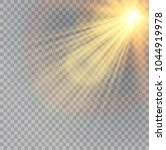 vector transparent sunlight... | Shutterstock .eps vector #1044919978