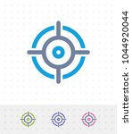 crosshairs   zap duo icons. a... | Shutterstock .eps vector #1044920044