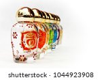 glass jars with the symbols of... | Shutterstock . vector #1044923908