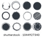 set of hand drawn circle... | Shutterstock .eps vector #1044927340