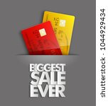 biggest sale ever   credit bank ... | Shutterstock . vector #1044929434