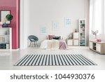 spacious  scandinavian bedroom... | Shutterstock . vector #1044930376