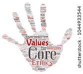 vector conceptual core values... | Shutterstock .eps vector #1044933544