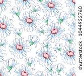 chamomile flower hand drawing... | Shutterstock .eps vector #1044933760