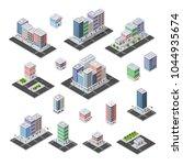 set of isometric city | Shutterstock . vector #1044935674