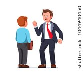 tall boss business man bully... | Shutterstock .eps vector #1044940450