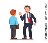 tall boss business man bully... | Shutterstock .eps vector #1044940450