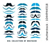 big collection of mustaches. 36 ... | Shutterstock .eps vector #1044944518