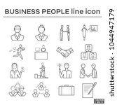 set of icons  business people. | Shutterstock .eps vector #1044947179