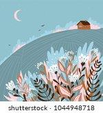 warm summer night in the... | Shutterstock .eps vector #1044948718