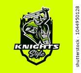 colorful emblem  logo  badge of ... | Shutterstock .eps vector #1044950128