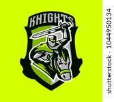 colorful emblem  logo  badge of ... | Shutterstock .eps vector #1044950134