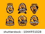 colorful set of logos  icons ... | Shutterstock .eps vector #1044951028
