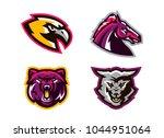 collection of animal logos. a... | Shutterstock .eps vector #1044951064