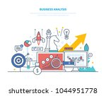 business analysis  plan... | Shutterstock .eps vector #1044951778