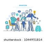 brainstorm  brain training ...   Shutterstock .eps vector #1044951814