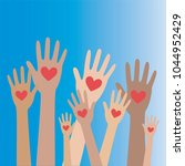 hands and heart donation donor... | Shutterstock .eps vector #1044952429