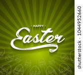 happy easter lettering greeting ...   Shutterstock .eps vector #1044952660