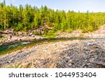 forest river stream panorama | Shutterstock . vector #1044953404