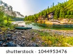 Mountain Forest River Shore...