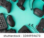 gamer workspace concept  top... | Shutterstock . vector #1044954673