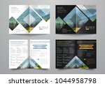 template of the bi fold... | Shutterstock .eps vector #1044958798