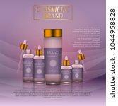 3d realistic cosmetic bottle... | Shutterstock .eps vector #1044958828