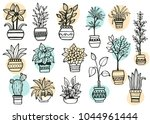 set of different hand drawn... | Shutterstock .eps vector #1044961444
