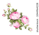 the blooming rose with couple... | Shutterstock .eps vector #1044964228