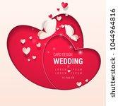 wedding invitation card... | Shutterstock .eps vector #1044964816