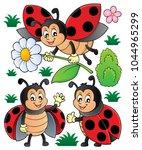 happy ladybugs theme set 1  ...   Shutterstock .eps vector #1044965299