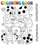 coloring book ladybug theme 7   ... | Shutterstock .eps vector #1044965950
