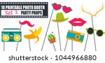bright photo booth props icon... | Shutterstock .eps vector #1044966880