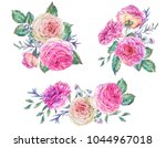 watercolor set of vintage... | Shutterstock . vector #1044967018