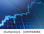 stock market chart on lcd... | Shutterstock . vector #1044968086