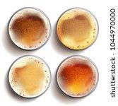 craft beer glass set vector.... | Shutterstock .eps vector #1044970000