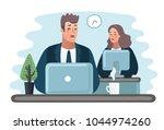 vector cartoon illustration  ... | Shutterstock .eps vector #1044974260