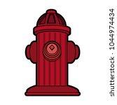 hydrant emergency equipment | Shutterstock .eps vector #1044974434