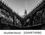 milan duomo detail   black and... | Shutterstock . vector #1044974980
