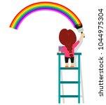 vector illustration of little... | Shutterstock .eps vector #1044975304