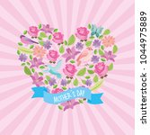 mothers day card | Shutterstock .eps vector #1044975889