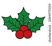 leafs and seeds christmas... | Shutterstock .eps vector #1044979354