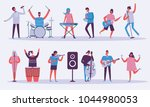 vector background in a flat... | Shutterstock .eps vector #1044980053