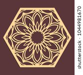 laser cutting panel. golden...   Shutterstock .eps vector #1044981670