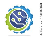 logo icon with advanced...   Shutterstock .eps vector #1044985870