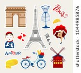 Fashion france patch badges with paris tower, mime, dancer, france cheese, tower, bicycle, paris travel and other. Very large set of girlish and boyish stickers, travel paris patches in cartoon