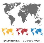 world map black yellow red blue ... | Shutterstock .eps vector #1044987904