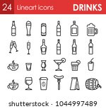 set of icons with beverage and... | Shutterstock .eps vector #1044997489