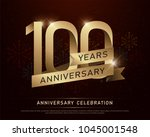100th years anniversary... | Shutterstock .eps vector #1045001548
