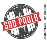 sao paulo brazil round travel... | Shutterstock .eps vector #1045002088